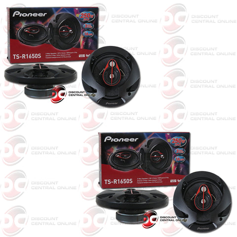 Pioneer TS-R1650S 6.5-inch Car Audio 3-way Coaxial Speakers (2 Pairs)