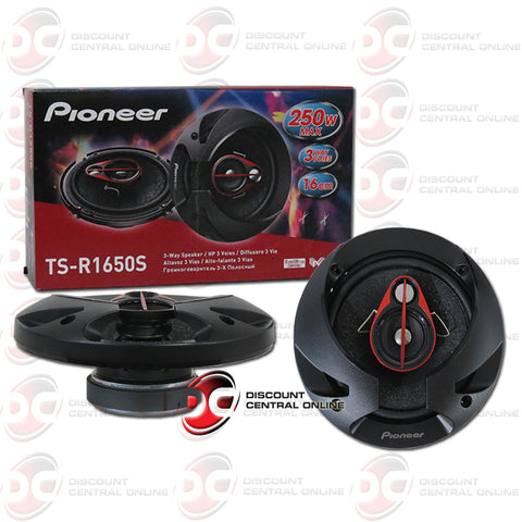 Pioneer TS-R1650S 6.5-inch Car Audio 3-way Coaxial Speakers (Pair)