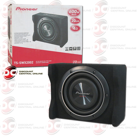 "Pioneer TS-SWX2002 8"" Shallow Mount Car Enclosure Subwoofer"