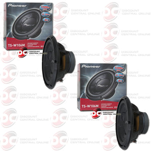"Pioneer TS-W106M 10"" Single 4-Ohm Car Audio Subwoofer (Pair)"