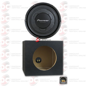 "Pioneer TS-W106M 10"" Single 4-Ohm Car Audio Subwoofer Plus Subwoofer Box"