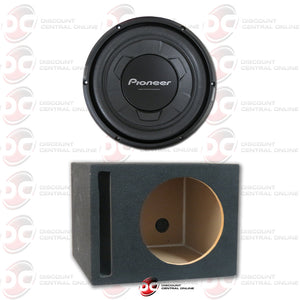 "Pioneer TS-W106M 10"" Single 4-Ohm Car Audio Subwoofer Plus Ported Subwoofer Box"