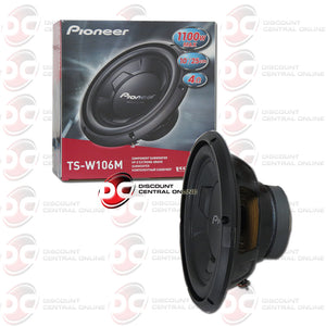 "PIONEER TS-W106M 10"" SINGLE 4-OHM CAR SUBWOOFER"