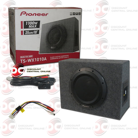 Pioneer TS-WX1010A Car Audio 10-inch Amplified Shallow Mount Enclosed Subwoofer