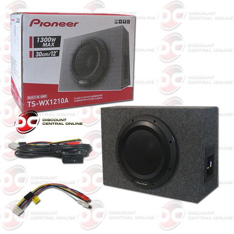 Pioneer TS-WX1210A Car Audio 12-inch Amplified Shallow Mount Enclosed Subwoofer
