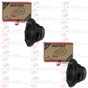 "TWO AUDIOPIPE TXX-BD1-10 10"" DUAL 4-OHM CAR SUBWOOFER"