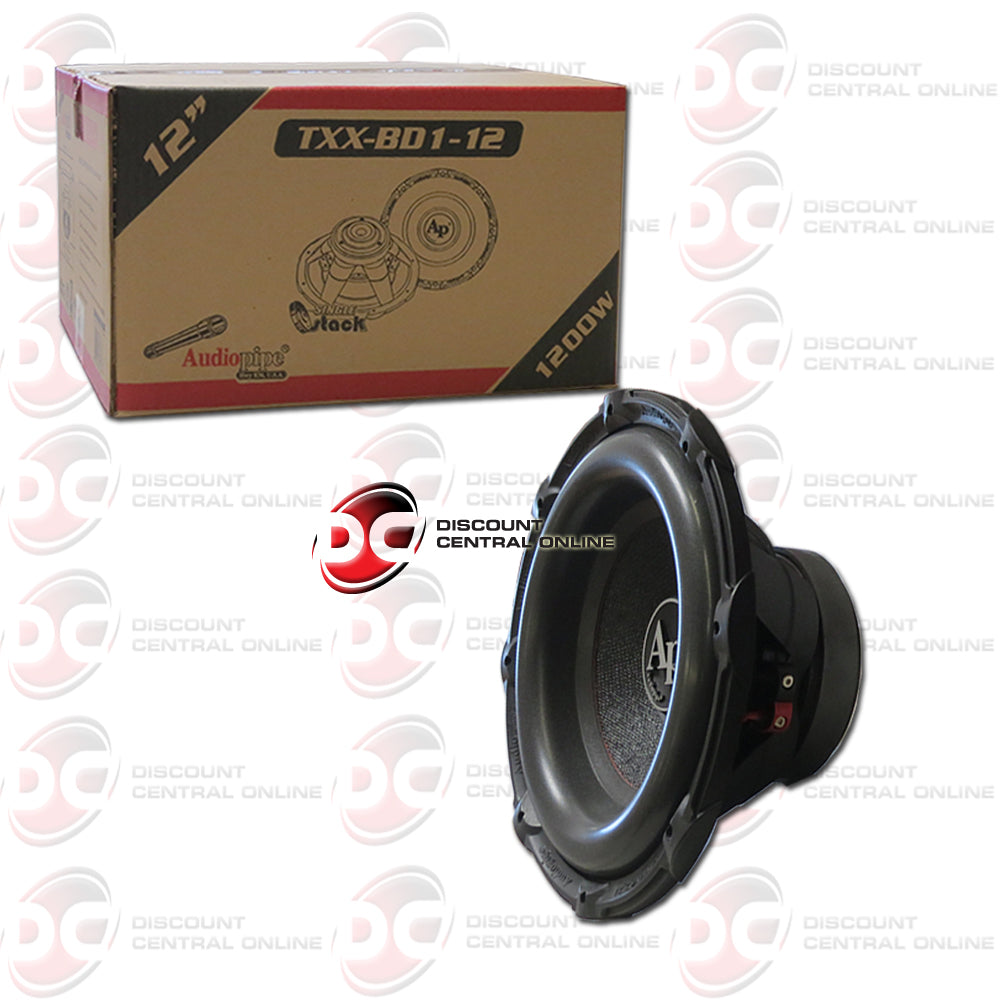 "Audiopipe TXX-BD1-12 12"" Dual 4-Ohm Car Audio Subwoofer"