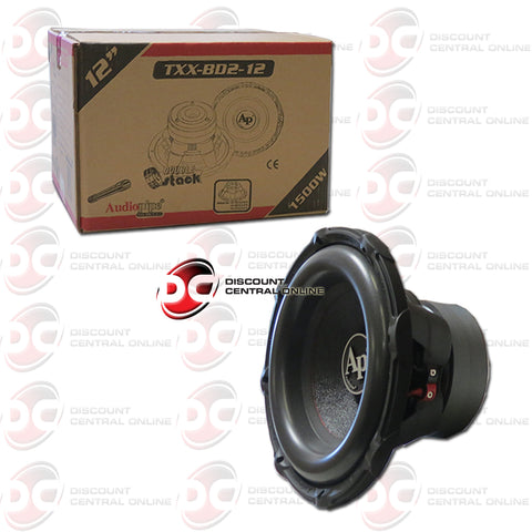 "Audiopipe TXX-BD2-12 12"" Dual 4-Ohm Car Audio Subwoofer"