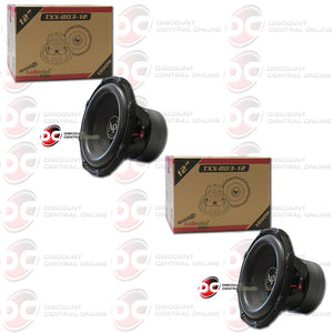 "Audiopipe TXX-BD3-12 12"" Dual 4-Ohm Car Audio Subwoofer (Pair)"