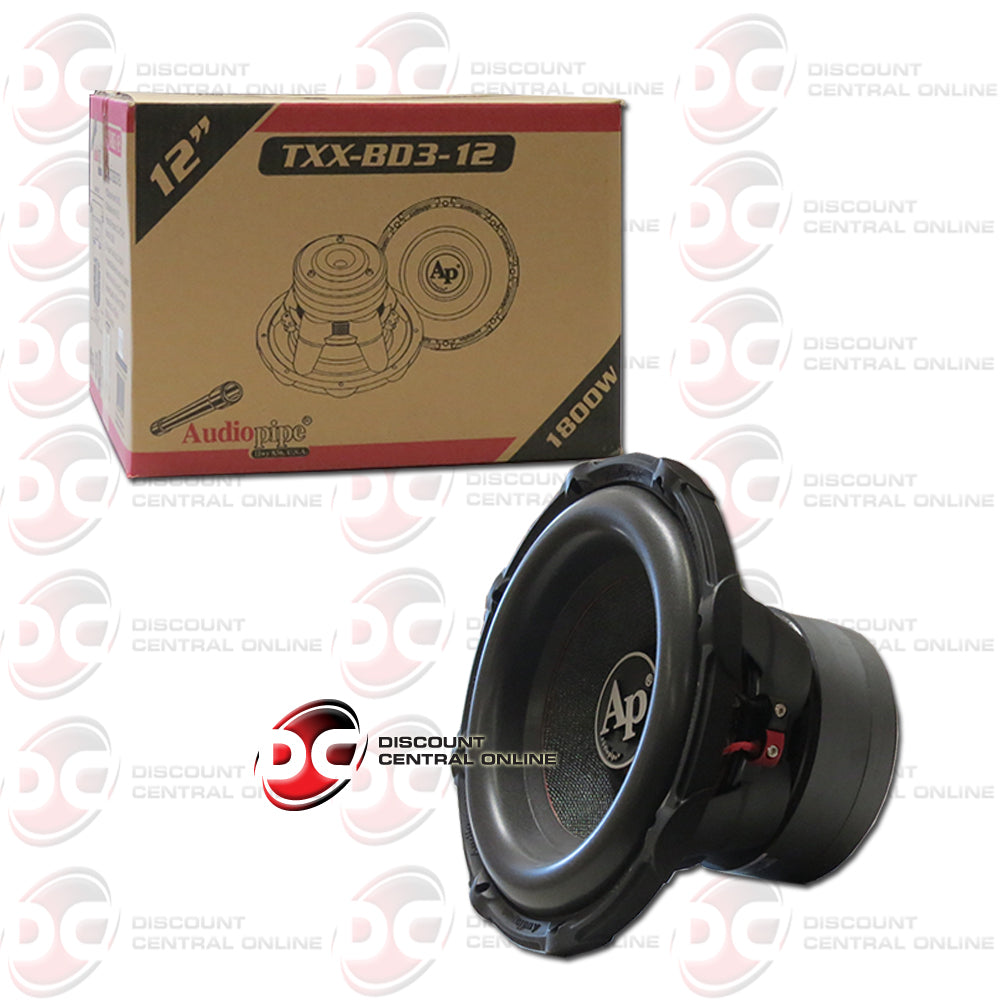 "Audiopipe TXX-BD3-12 12"" Dual 4-Ohm Car Audio Subwoofer"