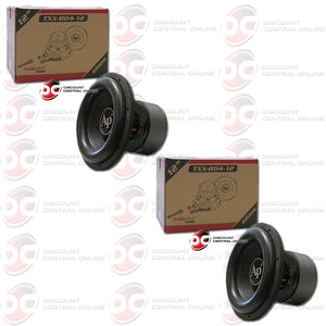 "Two Audiopipe TXX-BD4-12 12"" DVC 4-ohm Car Subwoofer"