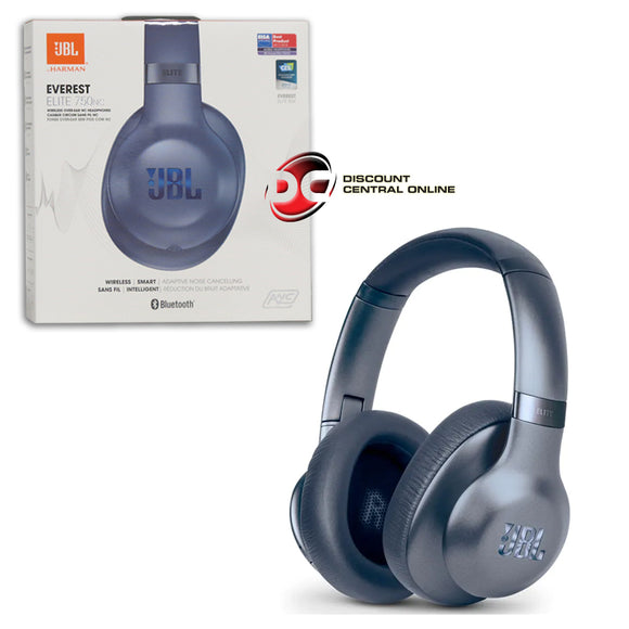 JBL EVEREST ELITE750NC BLUETOOTH WIRELESS OVER-EAR NOISE CANCELLING HEADPHONES (STEEL BLUE)