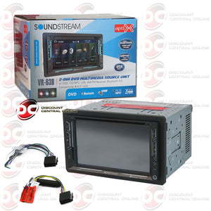 "SOUNDSTREAM VR-63B 6.2"" CAR MULTIMEDIA RECEIVER WITH AM/FM/CD/DVD/BLUETOOTH/AUX/GPS/SIRIUS READY COMPATIBILITY"