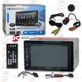 "Soundstream VR-65B 2-Din 6.2"" CD DVD Car Stereo with Bluetooth Stereo and USB Input (with Back-up Camera)"