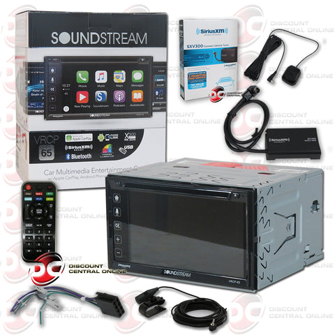 "Soundstream 2DIN VRCP-65 6.2"" Car DVD CD Receiver Apple Carplay with Bluetooth & SiriusXM"