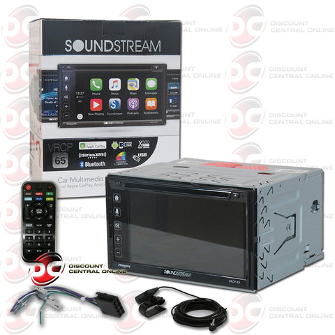 "Soundstream 2DIN VRCP-65 6.2"" Car DVD CD Receiver Apple Carplay with Bluetooth"