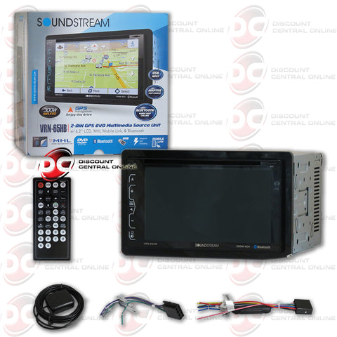 "Soundstream 2DIN VRN-65HB 6.2"" Car GPS DVD CD Receiver MobileLink X2 with Bluetooth"