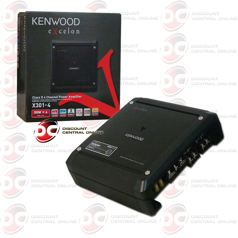 Kenwood X301-4 Car Audio 4 Channel Class D Amp Amplifier