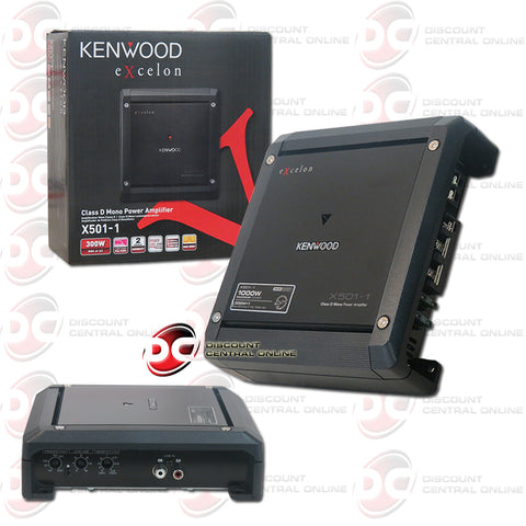 KENWOOD EXCELON X501-1 MONO POWER CLASS D CAR AUDIO APLIFIER (X SERIES)