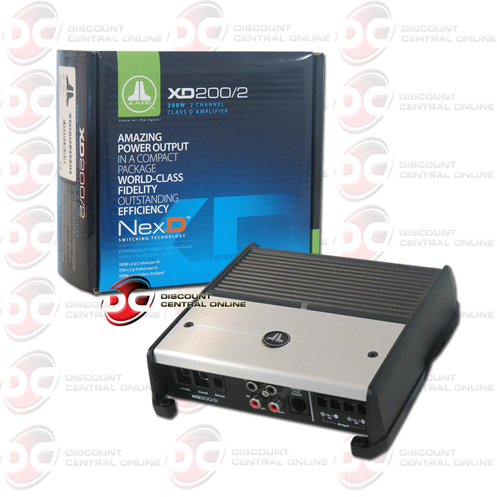 JL AUDIO XD200-2 200W 2 CHANNEL CLASS D CAR AUDIO AMPLIFIER