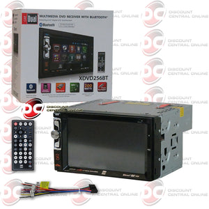 "Dual XDVD256BT 2-Din 6.2"" Car CD/DVD Receiver With Bluetooth"