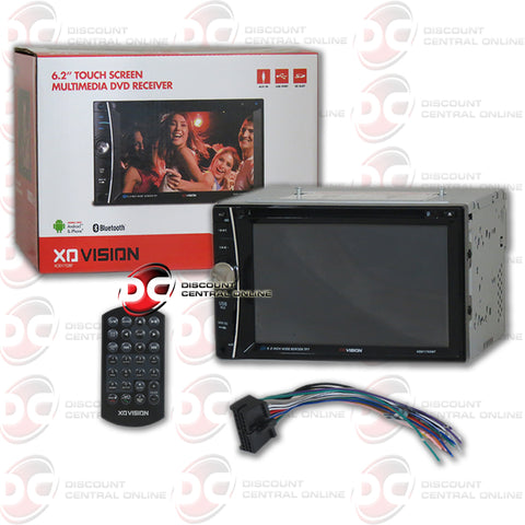 "XO Vision 2DIN XOD1752BT 6.2"" Car DVD CD Receiver with Bluetooth"