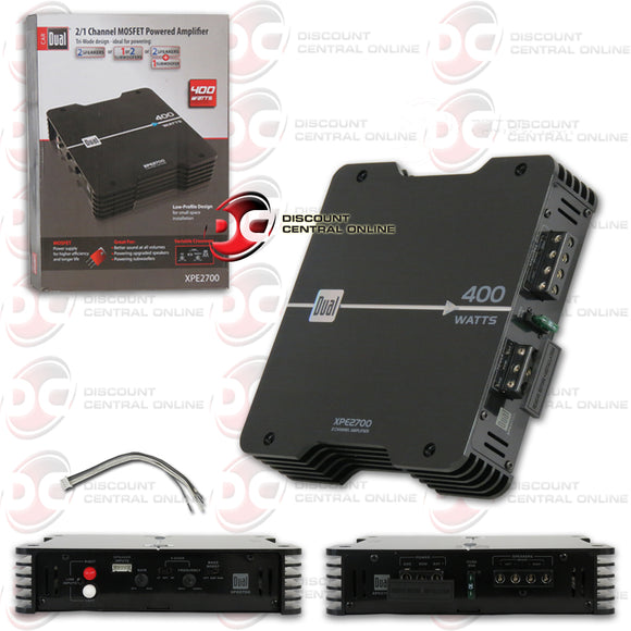 DUAL XPE2700 CLASS-AB 2-CHANNEL CAR AMPLIFIER