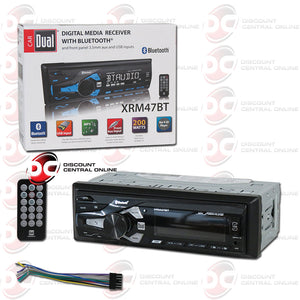 Dual XRM47BT 1-Din Car Digital Media Stereo AM/FM With Bluetooth