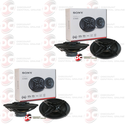 "2X SONY XS-FB693E 6"" x 9"" 3-WAY CAR AUDIO SPEAKERS"