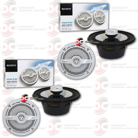 "4 x SONY XS-MP1621 6.5"" CAR BOAT 2-WAY MARINE AUDIO COAXIAL SPEAKERS"