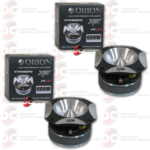 "2X ORION XTW950FD 1.25"" 600W MAX XTR SERIES CAR AUDIO TWEETER"