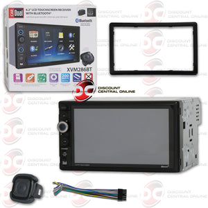 "DUAL XVM286BT 2-DIN 6.2"" TOUCHSCREEN CAR DIGITAL MEDIA RECEIVER WITH BLUETOOTH & REMOTE"