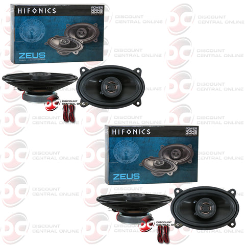Hifonics Zeus ZS46CX 4 X 6-inch 2-Way Car Audio Coaxial Speakers (2 Pairs)