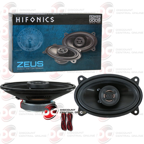Hifonics Zeus ZS46CX 4 X 6-inch 2-Way Car Audio Coaxial Speakers (Pair)