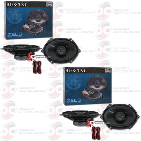 "Hifonics Zeus ZS5768CX 5"" X 7"" Or 6"" X 8"" 2-way Car Audio Coaxial Speakers (2 Pairs)"