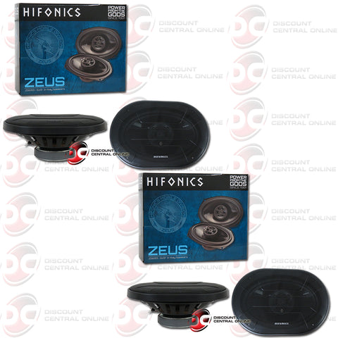 "Hifonics ZS693 6x9"" 3-Way Car Audio Coaxial Car Speakers (2 Pairs)"