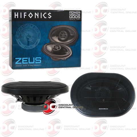 "Hifonics ZS693 6x9"" 3-Way Car Audio Coaxial Car Speakers"