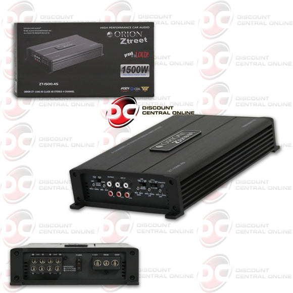 ORION ZT-1500.4S 4-CHANNEL CLASS AB CAR AMPLIFIER