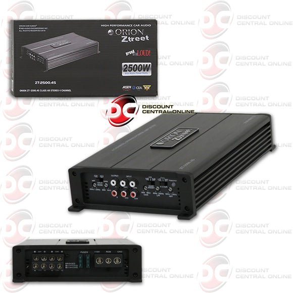 ORION ZT-2500.4S 4-CHANNEL CLASS AB CAR AMPLIFIER