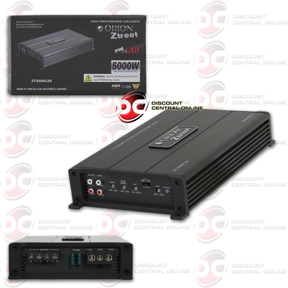 ORION ZT-5000.2S 2-CHANNEL CLASS AB CAR AMPLIFIER