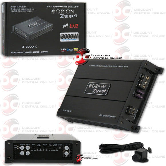 ORION ZT3000.1D CLASS-D MONO BLOCK CAR AMPLIFIER