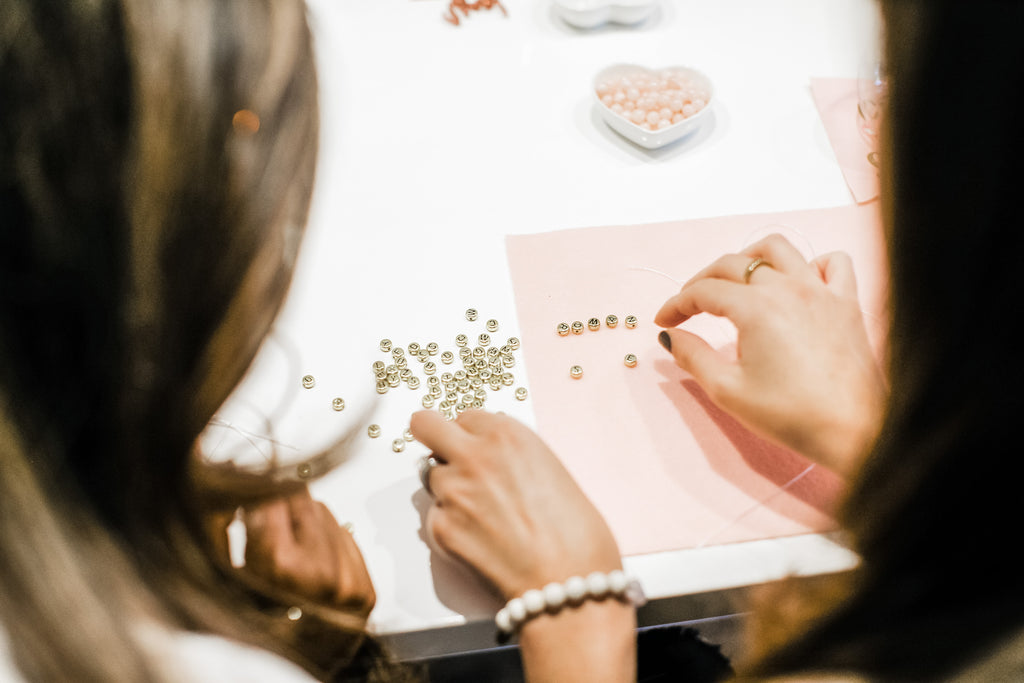 how to host beaded bracelet workshop galentines
