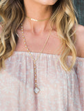 Dainty Disk Choker Necklace {gold}