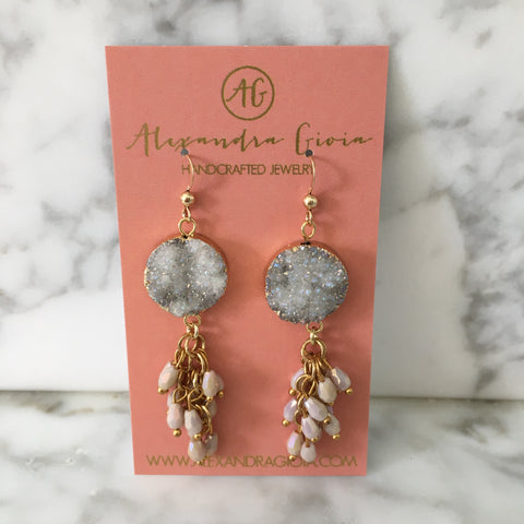 Madelyn Druzy Earrings
