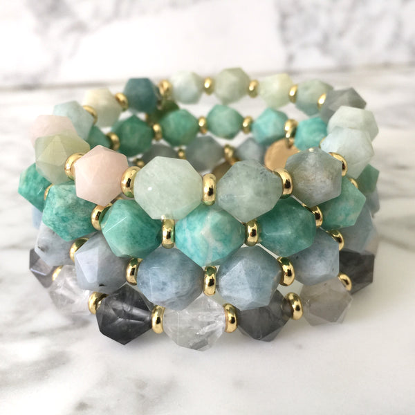 Arden Gemstone Stretch Bracelet