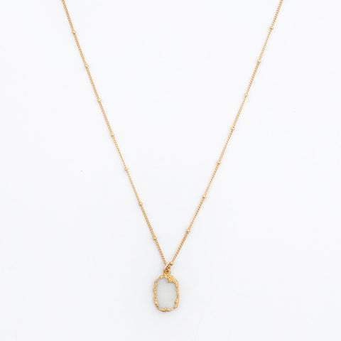 Dainty Druzy Necklace | White