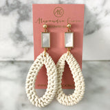 alexandra gioia gold filled rattan and mother of pearl statement earrings