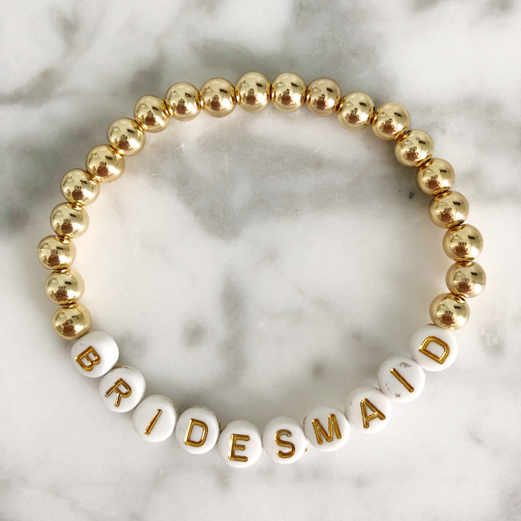 "AG Word Bracelet ""BRIDESMAID"""