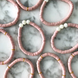 Pink Disk Bracelets {Dusty Rose}