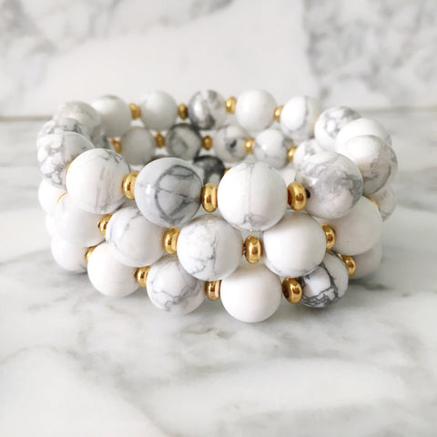 Stackable Bracelet | Marble